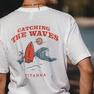 Catching the Waves Pocket Tee